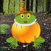 Halloween Pumpkin Frog Escape